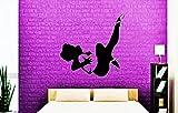 SEXY WOMAN HOT Männerzimmer Männerwelt Wandtattoo Oldimer Aufkleber Wandfigur Sticker Liebe Wandbild Dekoration Wohnzimmer Männerwelt Auto Vintage in verschiedene Farben und einer Größe von 55 cm x 55 cm