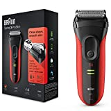 Braun Series 3 ProSkin 3030s - Afeitadora eléctrica / máquina de afeitar recargable, color rojo