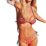 2018 Damen Bikini-Set Internet Push-up Gepolsterte BH ,Frauen Blumen Bedruckter Bikini Push-up Bademode Badeanzug Badestrand Bademode Von JAMINY (S)