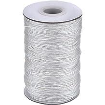 109 Yardas/ Rollo Cordón Blanco Trenzado de Cortina de Elevación para Persiana de Aluminio, Planta de Jardinería y Manualidades (1,4 mm)