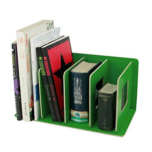 bao Core DIY Holz 4Teile Desktop Buch Rack Bücherregal CD Ständer Regal Book ordentliche Aufbewahrung Rack Schreibtisch Supply Datei Sortiermaschine Organizer grün
