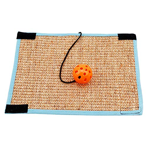 Haiyemao Cat Scratch Pad Kitten Pet Scratch Mat Ball Post Claw Training Sisal Pad Pet Furniture Cover Table Chair Sofa Legs Scratching Prevention Mat for Cat Playing (String Chair)
