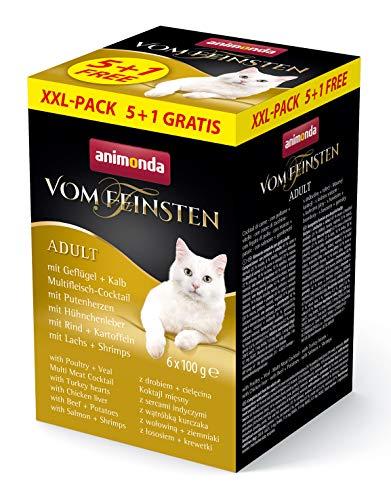 Animonda Katze Vom Feinsten Adult Katzenfutter XXL-Pack 5+1 (6 x 100g)