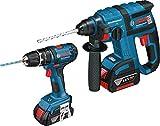 Bosch Professionelle-Kit Bosch GBH 18V-EC + GSB 18-2-LI (2x 4,0Ah + AL1860CV)
