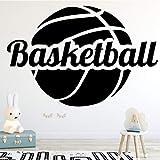 WSYYW Amusant Basket-ball De Mode Art Sticker Mural Garçon Chambre Intérieur Stade...