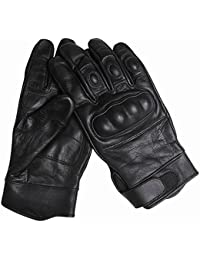Tactical Handschuhe Leder schwarz