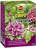 COMPO Rhododendron Langzeit-Dünger, hochwertiger Spezial-Langzeitdünger, für Rhododendren und andere Moorbeetpflanzen wie Hortensien, Azaleen und Heidepflanzen, 2 kg