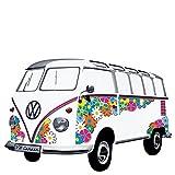 smartdeco Wand Aufkleber, VW T1Samba Bus 1962Flower