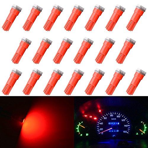 katur T5707374798586206406LED Leuchtmittel 50501SMD weiß 1W 12V Auto Innen Instrument Cluster Gauge LED-Lichter Armaturenbrett Signal LED Leuchtmittel (10Stück)