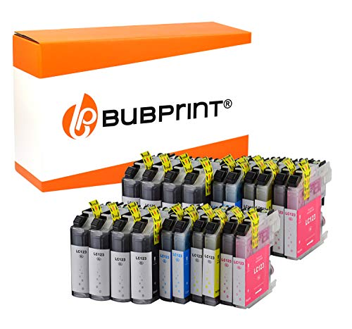 20 Bubprint Druckerpatronen kompatibel für Brother LC-123 für DCP-J132W DCP-J152W DCP-J4110DW DCP-J552DW DCP-J752DW MFC-J245 MFC-J4410DW MFC-J4510DW MFC-J470DW MFC-J6520DW MFC-J6720DW MFC-J870DW