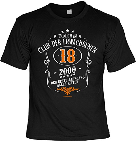 Endlich IM Club der Erwachsenen 18 Jahre 2000 - Zum 18er mit Urkunde (Halloween-t-shirts Für Erwachsene)