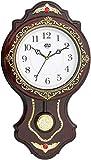 #10: Estilo Plastic Analog Pendulum Wall Clock (43 cm x 30 cm x 7 cm, Brown, 109Brown)