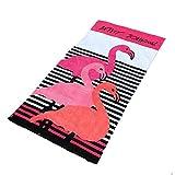 Stillshine 100% Baumwolle Strandtuch Badetuch - Mann Frau Leopard Druck Sport Handtuch Decke Schwimmen Surfen Wandern Reisen Beach Wrap Badetuch XL (Flamingo, 160 x 90 cm)