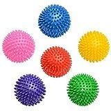 EnjoyFit Igelball Fitness Massageball Noppenball 9cm 6er Set - bunt