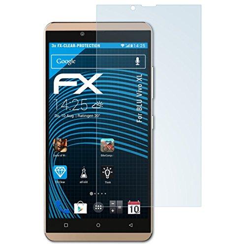 atFolix Schutzfolie kompatibel mit BLU Vivo XL Folie, ultraklare FX Bildschirmschutzfolie (3X)