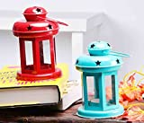 #7: Set Of 2 Sammsara Lantern Decoration With Tealight Candle (Blue,Red,).Hanging lanterns for home decoration.t light holder hanging