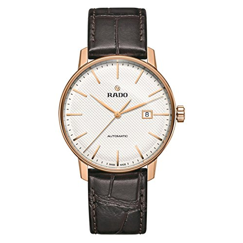 RADO MEN'S COUPOLE CLASSIC 41MM BROWN LEATHER BAND AUTOMATIC WATCH R22877025
