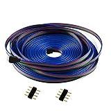 Cooligg 10m 4 polig LED RGB Verlängerungskabel Verbinder vom DE Händler, LED Anschluss Kabel für 4pin LED SMD 5050 4pin Streifen Strip, LED Zubehör, Rechnung per Email