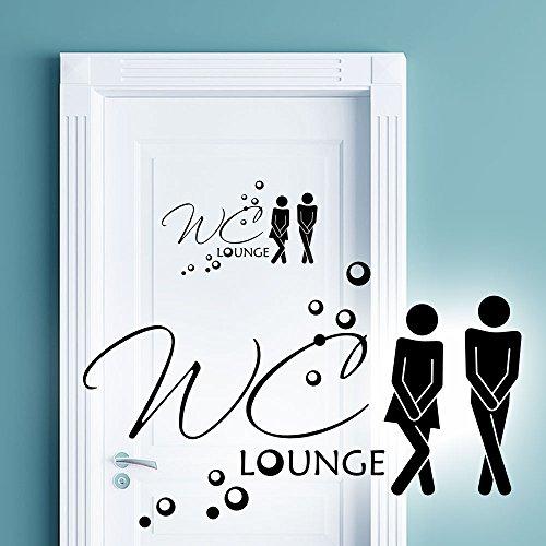 Wandaro W3331 Wandtattoo WC Aufkleber Mann/Frau WC Lounge Bad Piktogramm Wandsticker Badezimmer Wandaufkleber