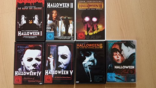 (HALLOWEEN Edition Teil 1 2 3 4 5 H20 Michael Myers Collection 6 DVD Neu)