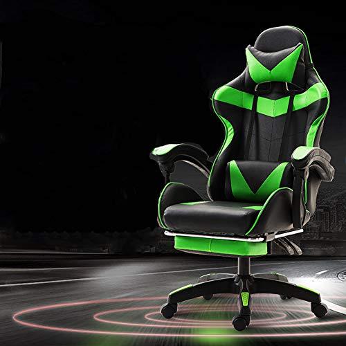 Spiel Stuhl esports Spiel Sitz Internet-Cafés wettbewerbsfähigen Rennstuhl Büro Computer Stuhl Anker nach Hause kann Liegestuhl sein-green