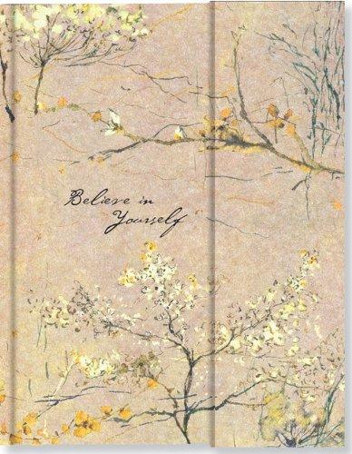 Journal Fold-Over Believe in Yourself Beige