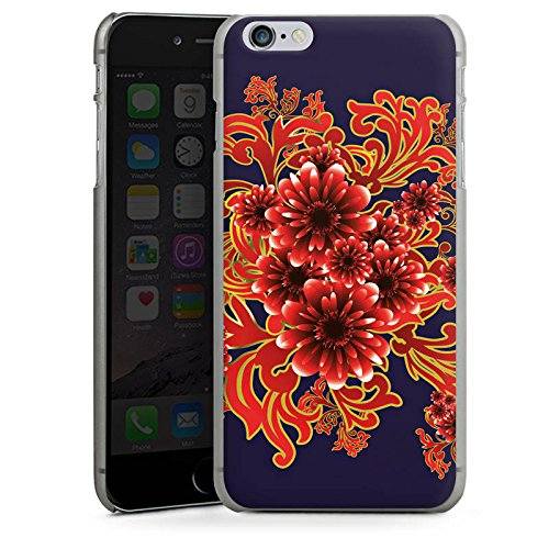 Apple iPhone X Silikon Hülle Case Schutzhülle Flower Muster Ornament Hard Case anthrazit-klar