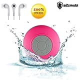 #4: Samsung E2652W Champ Duos Compatible Mini Portable Waterproof Bluetooth Wireless Stereo Shower Speakers BTS-06 with Suction Cup for All Devices with Bluetooth Capability + Siri Compatible / with Built-in Mic Powerful Handsfree Speakerphone Best for Bath, Pool, Car, Beach, Indoor / Outdoor Use.in Pink color