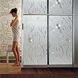 KINLO Fensterfolie 90x200cm Glasfolie aus hochwertigem PVC selbstklebefolie Büro Dekofolie klar sichtschutzfolie statisch 2 Jahren Qualitätgarantie