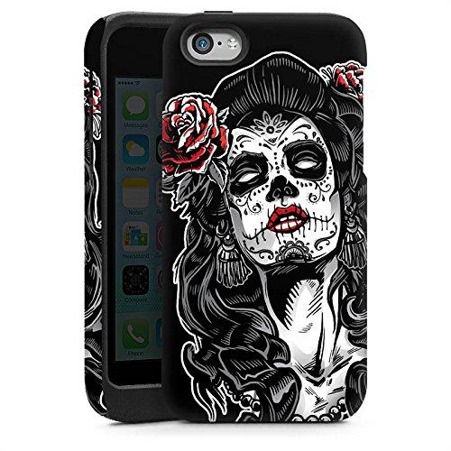 Apple iPhone 5 Housse Étui Silicone Coque Protection Zombie Catrina Halloween Cas Tough brillant