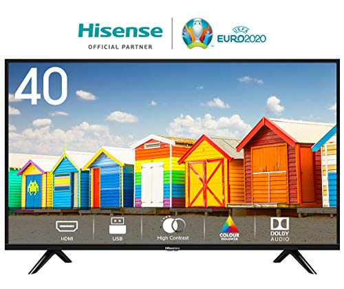 HISENSE H40BE5000 TV LED HD Natural Colour Enhancer Clean Sound Motion Picture Enhancer Tuner DVB T2/S2 HEVC 2 HDMI USB Media Player