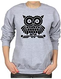 Cute Owl Cartoon Bird Womens Sweatshirt