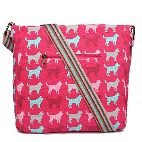 Miss Lulu , Damen Umhängetasche 1104 Pink