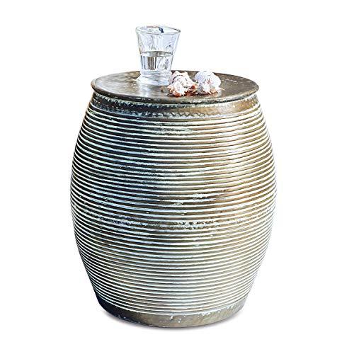 Loberon Beistelltisch Caqueret, Aluminium, H/Ø 46/32 cm, antikkupfer