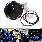 VORCOOL 12000RPM Universal LED Hintergrundbeleuchtung Motorrad Motorrad Geschwindigkeitsmesser Kilometerzähler Tachometer Gauge (Schwarz)