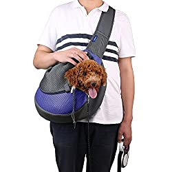 TQWMU Breathable Dog Front Carrying Bags Mesh Comfortable Travel Tote Shoulder Bag For Puppy Cat Small Pets Slings Backpack Carriers