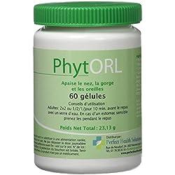Phytorl 60 gél. - Aide nez, gorge, oreilles en hiver - Niaouli, cannelle, thym, the vert - Phytothérapie - Complément alimentaire naturel