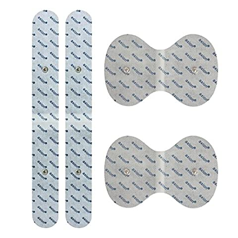 Axion – set d'électrodes contre le mal de dos adapté aux appareils Beurer (Em 40/Em 41/Em 41.1/Em 49 /Em 80) et Sanitas (SEM 40/41/42/43/44). Soulage les douleurs dorsales, de la nuque et des épaules