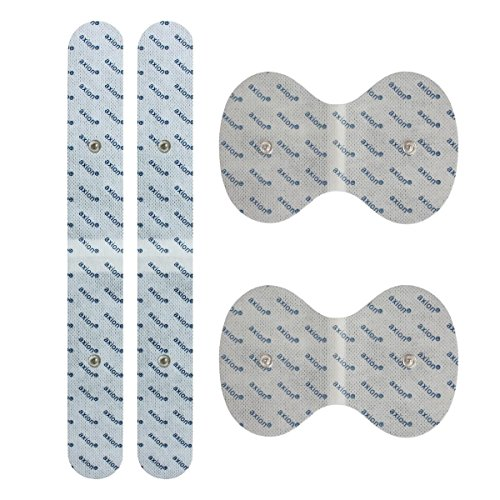 Set Electrodos espalda VITALCONTROL BEURER - Set de 4 parches especiales - para electroestimuladores conexión de botón 3,5mm - almohadillas calidad axion