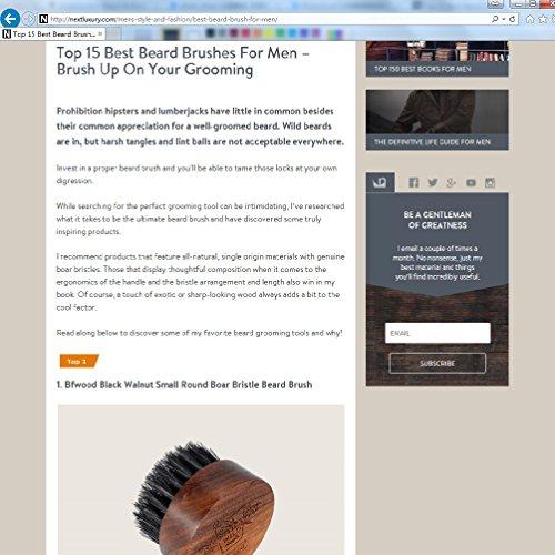 Bartbürste mit Wildschweinborsten, Walnussholz, Rundes Design Abbildung 3