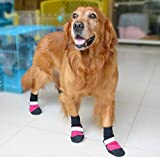 #3: Waterproof Dog Boots(4pcs per Set) (Large, Pink)