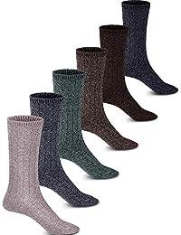 Sumind 6 Pares de Calcetines de Unisex Calcetines de Punto de Invierno Gruesos Calcetines Térmicos para