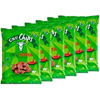 Chips de Vacuno Deshidratado CruChips Chili Peper 25g - Pack 6 unds.