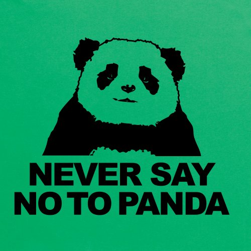 Never Say No To Panda T-shirt, Uomo Verde smeraldo