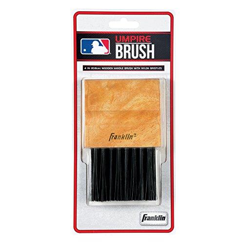"""Franklin Sports Mlb Baseball Softball Umpire\'s Wooden 4\"""" Base Plate Brush 2756"""