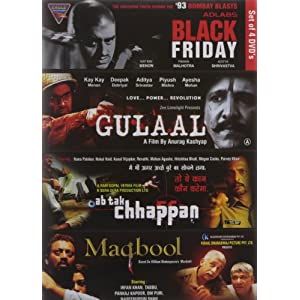 Set of 4 DVD's - Set 2 (Black Friday/Gulaal/Ab Tak Chhappan/Maqbool)
