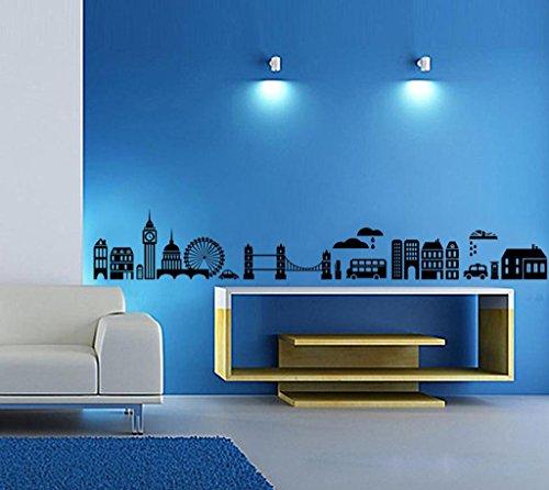 Decals Design 'Modern Town Silhouettes' Wall Sticker (PVC Vinyl, 70 cm x...