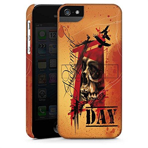 Apple iPhone X Silikon Hülle Case Schutzhülle Tattoo Orange Rock n Roll Premium Case StandUp