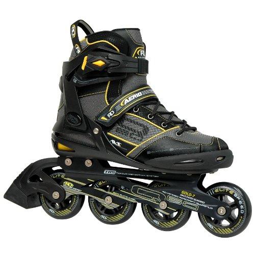 Roller Derby AERIO q-60Herren Inlineskate, Mädchen Unisex Damen Herren Jungen, Schwarz/Gelb/Grau