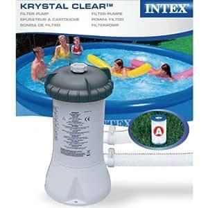 Intex Krystal Clear Swimming Pool Filter Pump & Cartridge for 8ft/10ft/12ft Pool by Intex